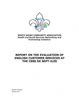 Report on the Evaluation of English Customer Services at the CSSS de Sept-Îles